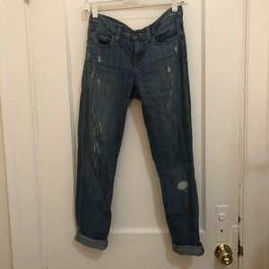 J.Crew Distressed Toothpick Jean